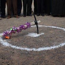 عملیات اجرایی «سد لاستیکی» تولمشهر شهرستان صومعه سرا آغاز شد