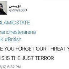 داعش مسئولیت انفجار در منچستر را بر عهده گرفت.در همین حال حامیان داعش در پی انفجار منچستر در فضای مجازی به جشن و شادی پرداختند.