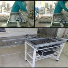 دستگاه برش اتوماتیک تخم مرغ توسط محمدامین شایانفر، کارشناس بخش تولید واکسنهای ویروسی طیور طراحی و با همکاری کارشناسان بخش طیور این شعبه طراحی و ساخته شد .