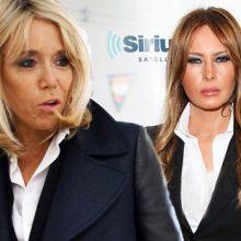 جنجال تقلید همسر رئیس جمهور فرانسه از همسر ترامپ+ تصاویر