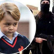 """تصویری از پرنس جورج چهار ساله در این پیام رسان الکترونیکی منتشر شده و در زیر عکس نوشته شده """"مدرسه آغاز شده است."""""""