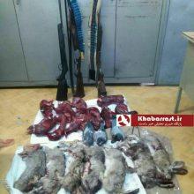 رئیس اداره محیط زیست شاهرود از کشف ۱۸سر لاشه خرگوش و سه قطعه کبوتر چاهی و یک قطعه کبک از پنج شکارچی غیرمجاز در این شهرستان خبر داد.
