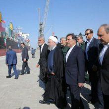 فاز اول طرح توسعه بندر شهید بهشتی چابهار روز یکشنبه با حضور رییس جمهور و میهمانان خارجی از ۱۷ کشور جهان و مسوولان و مقامات کشوری و لشگری به بهره برداری