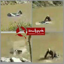 سقوط خودروی سمند به داخل رودخانه زرجوب رشت