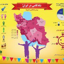 شادترین مردم ایران در کدام استانها زندگی میکنند؟