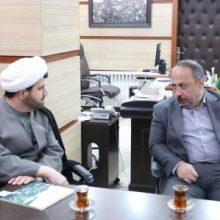 مسعود نصرتی شهردار رشت به مناسبت سال نو با حجت الاسلام اشجری رئیس شورای هماهنگی تبلیغات اسلامی گیلان دیدار کرد.