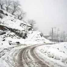 بارش برف در کوهستانهای ماسوله