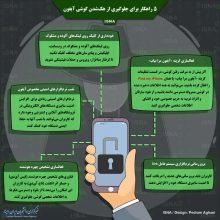 اینفوگرافی / ۵ راهکار برای جلوگیری از هکشدن گوشی آیفون