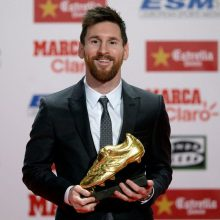 مسی برنده کفش طلا شد