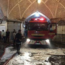 مصدومان حادثه آتش سوزی بازار تبریز به ۲۹ نفر رسید
