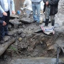 کشف گور تاریخی در محله ساغریسازان