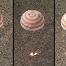 دو فضانورد روس و یک آمریکایی خدمه ایستگاه فضایی بین المللی امروز (دوشنبه) در پایان ماموریت خود با موفقیت به زمین بازگشتند.
