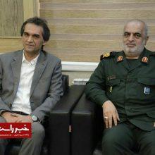 دیدار مدیر منطقه ۴ شهرداری رشت با فرماندهی سپاه قدس استان گیلان