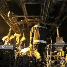 مدیر روابط عمومی پزشک قانونی کردستان از تحویل 5 جسد متوفیان حادثه آتش سوزی اتوبوس شب گذشته سنندج خبر داد و گفت: دو جسد دیگر شناسایی