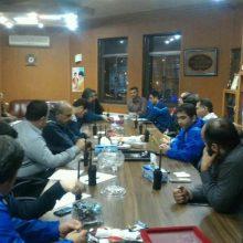 برگزاری جلسه ستاد بحران شهرداری رشت در سازمان آتش نشانی و خدمات ایمنی