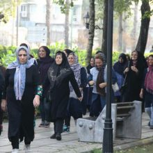 همایش پیاده روی بانوان ادارات شهرستان رشت در پارک قدس رشت برگزار شد
