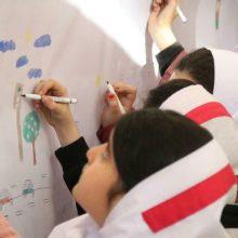 """برگزاری رویداد """"نقاشی دیواری کودکان"""" در معاونت حمل و نقل ترافیک شهرداری رشت"""